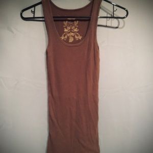 Women's Old Navy brown ribbed tank
